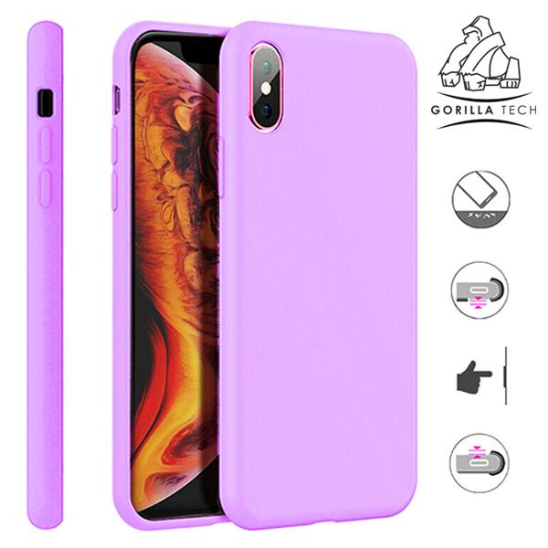 APPLE Cover in Silicone per iPhone X Porpora